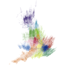 Redrawing the map of Great Britain from a network of human interactions.